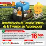 EN VIVO: Determinación del Tamaño Óptimo de la Inversión en Agronegocios