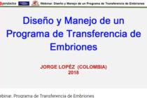 """Videoconferencia: Charla Gratuita """"Diseño y Manejo de un Programa de Transferencia de Embriones"""""""