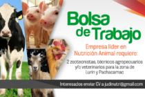 Empresa Purina requiere: zootecnistas, técnicos agropecuarios y/o veterinarios para Lurín