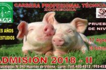 Carrera Profesional Técnica de Zootecnia – Admisión 2018 II