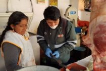 Inspeccionan Comercialización de Productos Cárnicos en Mercado Zonal de Ayacucho