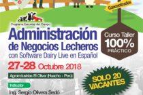 Curso Taller 100% Práctico: Administración del Negocio Lechero con Software Dairy Live en Español 🗓 🗺