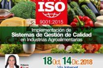 Curso On Line – ISO 9001: 2015 Implementación de Sistemas de Gestión de Calidad en Industrias Agroalimentarias 🗓