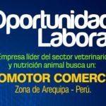 Oportunidad Laboral: para promotor comercial en Arequipa