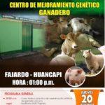 Inauguración del Centro de Mejoramiento Genético en Fajardo - Huancapi, Ayacucho
