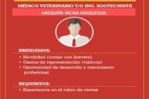Laboratorios Biomont Busca Representante Técnico Comercial para Arequipa, Tacna y Moquegua