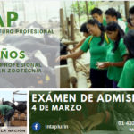 INTAP: Carrera Profesional Técnica de Zootecnia - Examen Admisión 2019