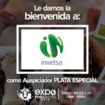 EXPOPERULACTEA 2019 da la Bienvenida a: Invetsa como Auspiciador Plata Especial