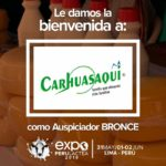 EXPOPERULACTEA 2019 da la Bienvenida a: Cooperativa Agraria Carhuasaqui como Auspiciador Bronce
