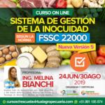 Curso On Line: Implementación del Sistema de Gestión de la Inocuidad según la Norma FSSC 22000 – Nueva Versión 5