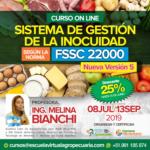 Curso On Line: Implementación del Sistema de Gestión de la Inocuidad según la Norma FSSC 22000 - Nueva Versión 5