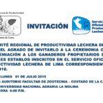 Premiación a los Ganaderos Propietarios de los Mejores Establos de la Cuenca Lechera de Lima