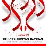 Laboratorio Asvet les desea Felices Fiestas Patrias