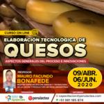 Curso On Line: Elaboración Tecnológica de Quesos