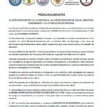 Pronunciamiento de los gremios profesionales en el Perú