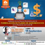 Charla Magistral: Nuevos Escenarios para la Formulación de Planes de Agronegocios por la Pandemia del COVID19