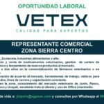 Se Solicita Representante Comercial Zona Sierra Centro