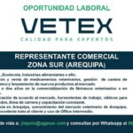 Se Solicita Representante Comercial en Zona Sur ( Arequipa)