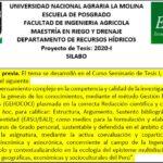 Fertirrigación y déficit hídrico en el cultivo de Chenopodium quinoa
