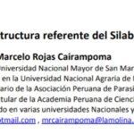 Psicología Veterinaria: Estructura referente del Silabo por competencias