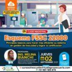Webinar Gratuito: ESQUEMA FSSC 22000 PARA LA GESTIÓN DE INOCUIDAD